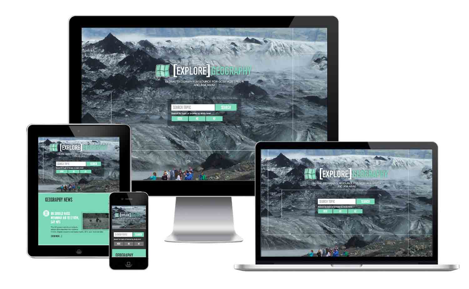 Explore Geography responsive website