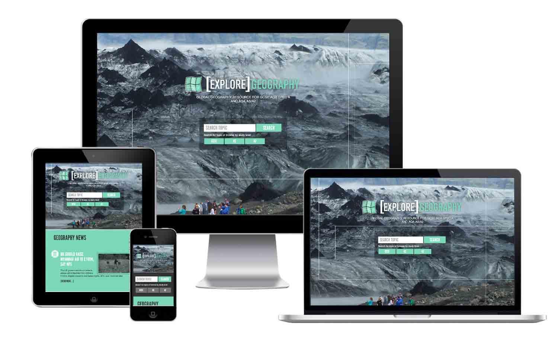 Explore Geography responsive website