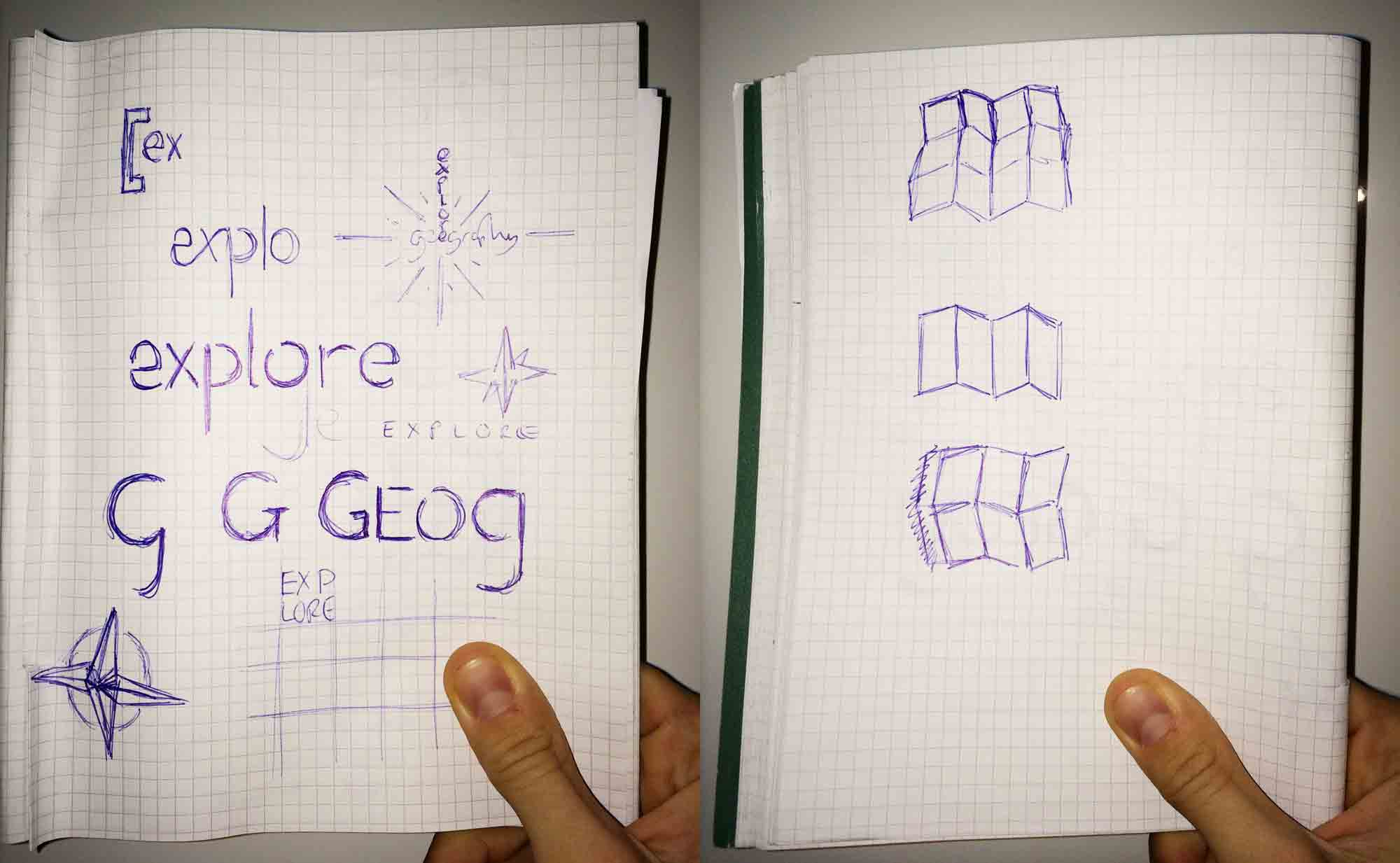 rubbish logo sketches