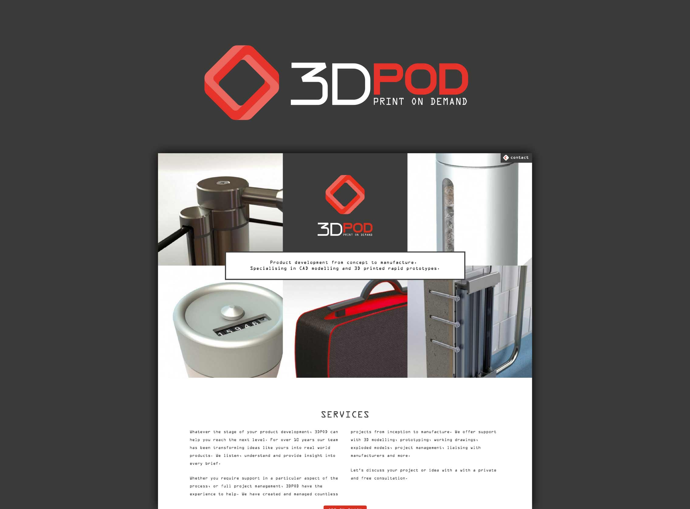 3DPOD website and logo graphic by Geoff Muskett