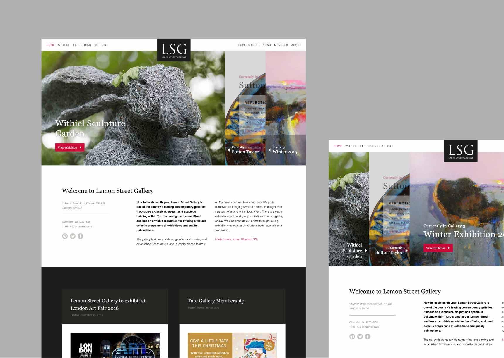 Sliding homepage panels screen grab