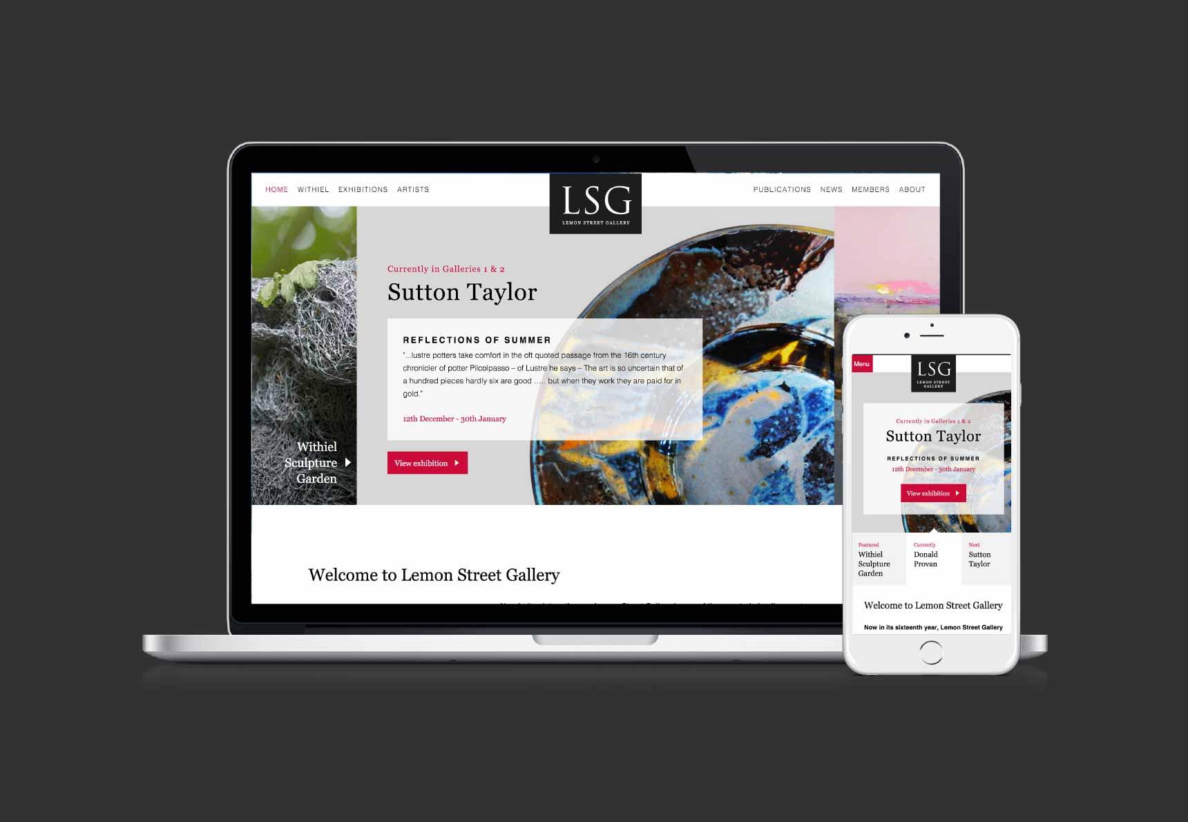 LSG responsive website screen grabs in MacBook Pro and iPhone by Geoff Muskett