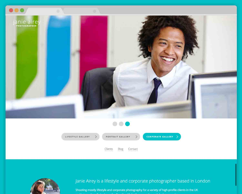 janie-airey.com design