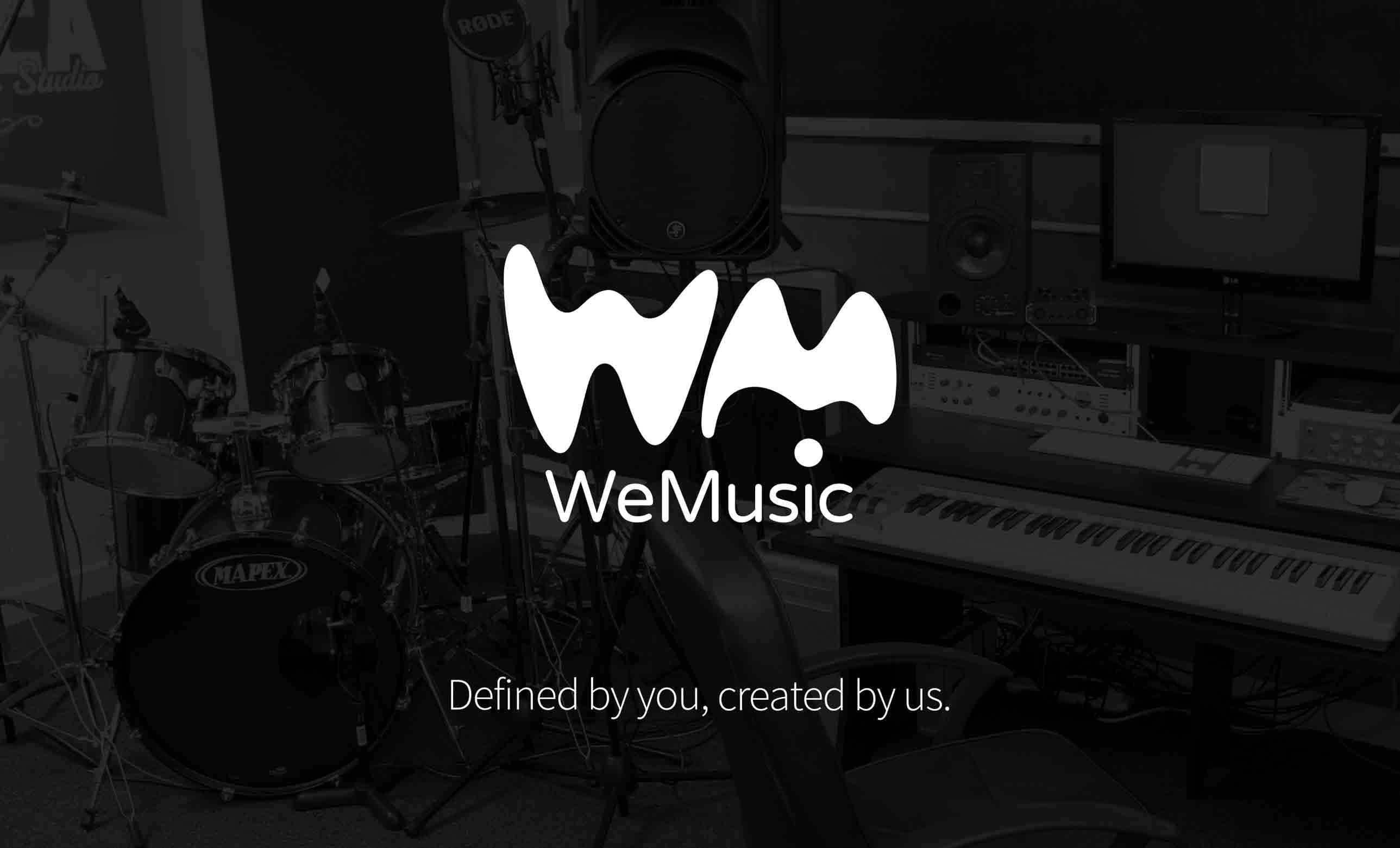 WeMusic logo and branding design by Geoff Muskett